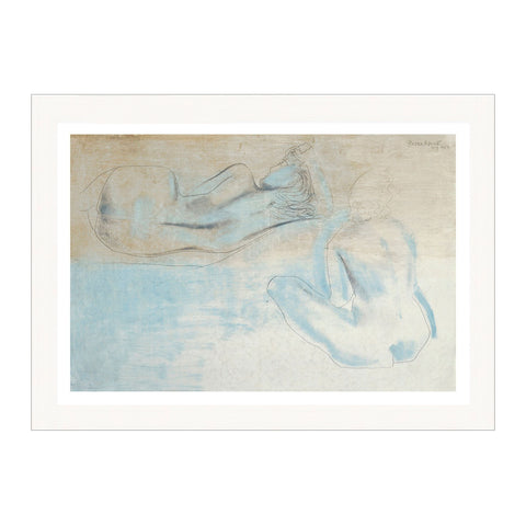 Two Figures by the Sea Print by Barbara Hepworth