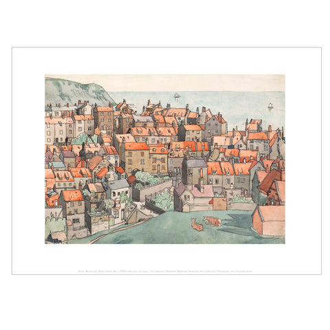 Robin Hood's Bay Mini Print by Albert Wainwright