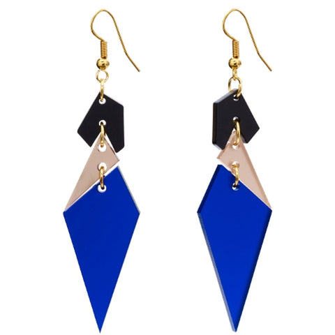 Abstract Diamond Earrings Sapphire by Toolally