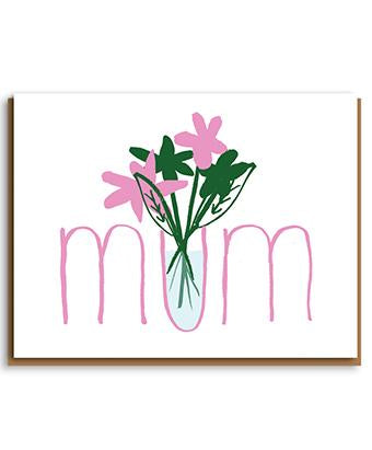 Mother's Day Vase Greetings Card