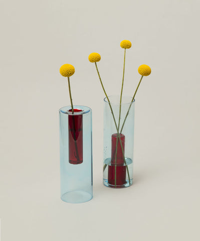 Reversible Vase  Blue / Red