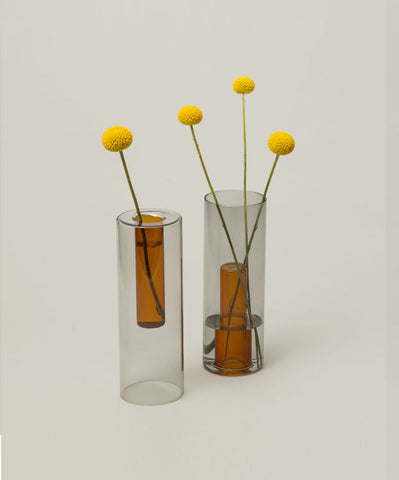 Reversible Vase - Grey / Orange