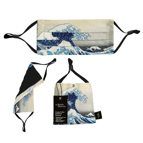 Hokusai Wave Face Covering