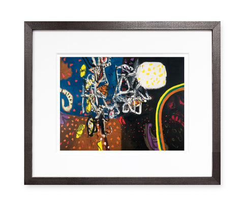 Crazy Gondolier by Alan Davie (framed)