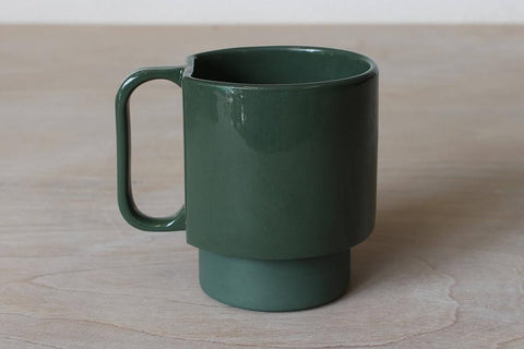 Forest Green Medium Cup by Emma Johnson