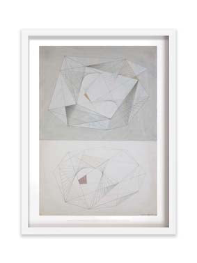 Framed Forms (Brown, Grey and White) by Barbara Hepworth