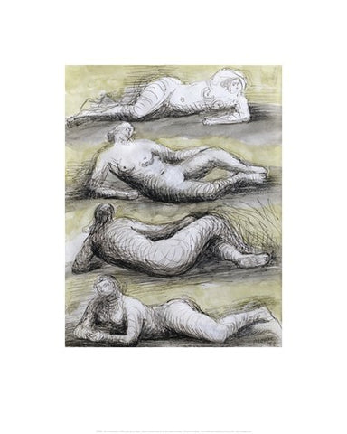 Four Reclining Nudes by Henry Moore