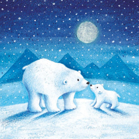 Moonlit Polar Bears Christmas Card Pack