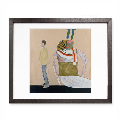 Man in a Museum by David Hockney (framed)