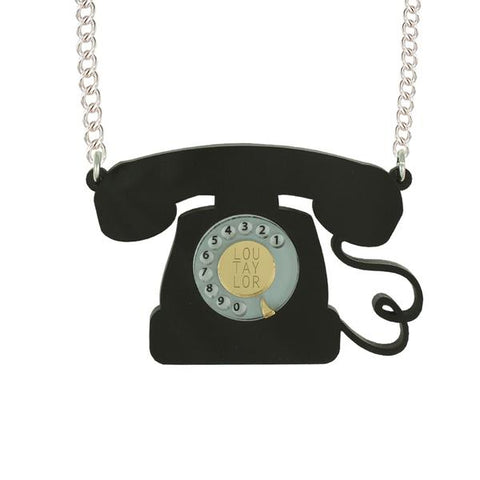 Telephone Necklace by Lou Taylor