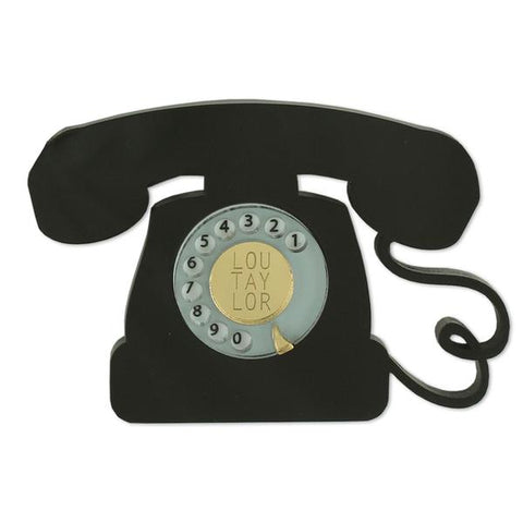 Telephone Brooch by Lou Taylor