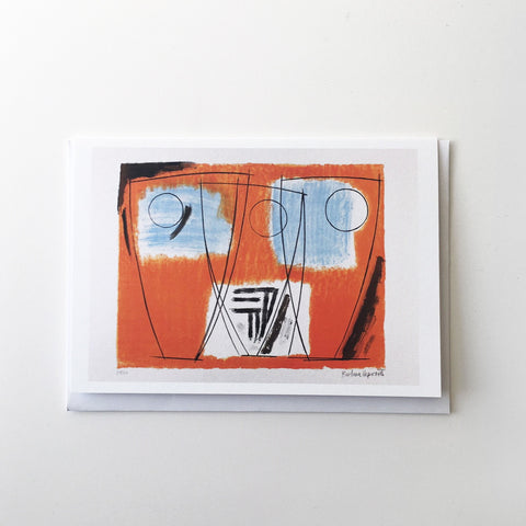Three Forms by Barbara Hepworth Greetings Card