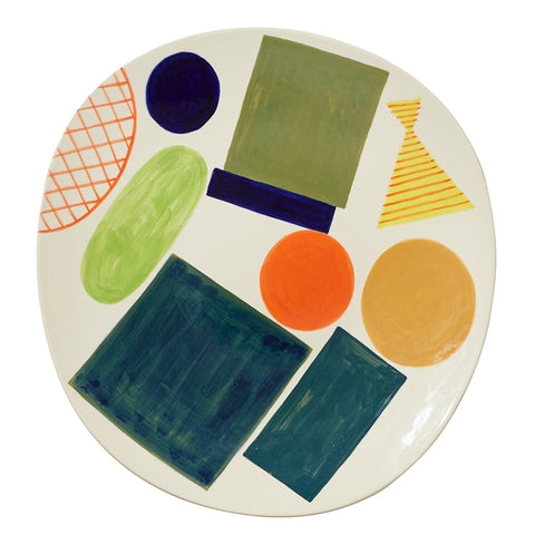 Block and Line Platter by Donna Wilson