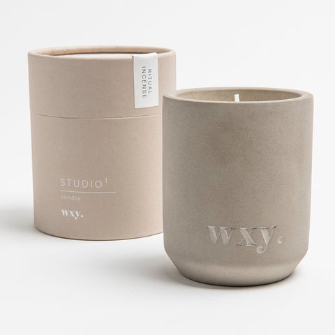 Ritual Incense Concrete Candle