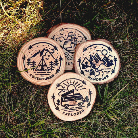 Wooden Coaster Set by Own Way