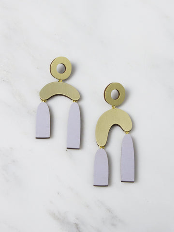 Lavender Balance Earrings by Wolf & Moon