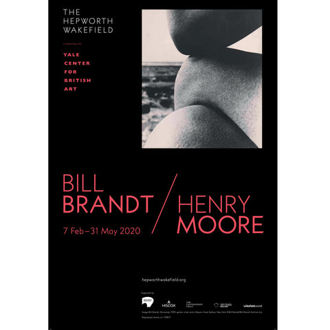 Bill Brandt | Henry Moore Exhibition Poster