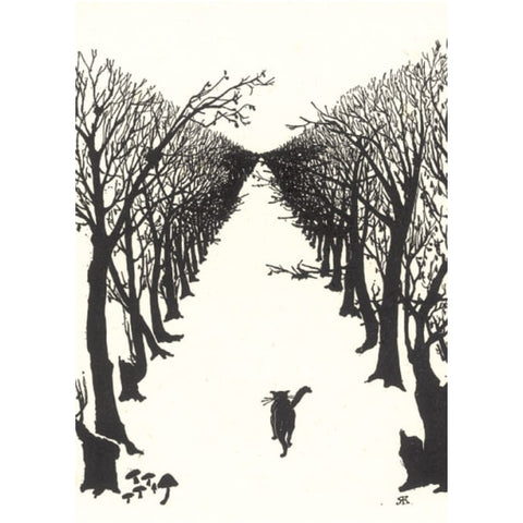 The Cat That Walked by Himself Greetings Card