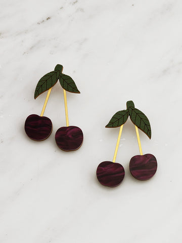 Cherry Earrings by Wolf and Moon