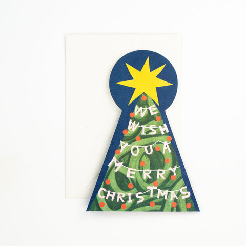 Merry Christmas Tree Greetings Card