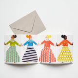 Dancers Greetings Card