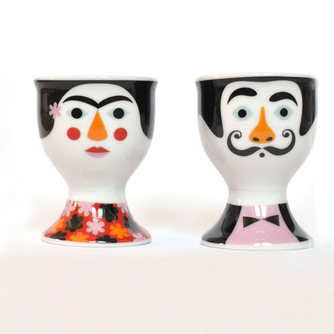 Frida and Salvador Egg Cups