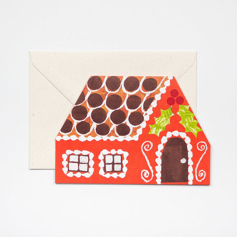 Gingerbread House Greetings Card