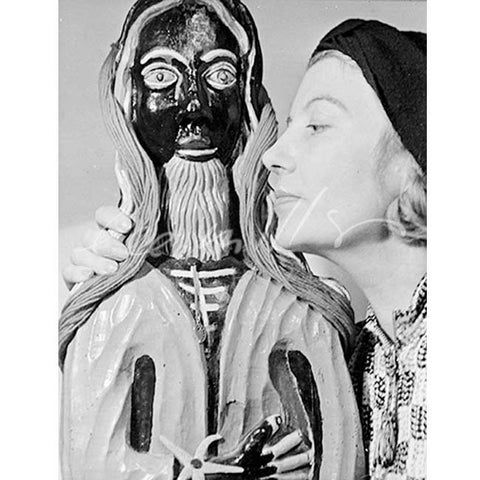 Lee Miller 'Eileen Agar and 'Golden Tooth' Sculpture' Digital Print