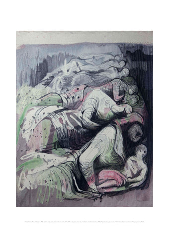 Henry Moore Row of Sleepers Print (unframed)