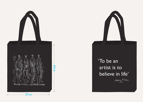 Henry Moore Quote Tote Bag
