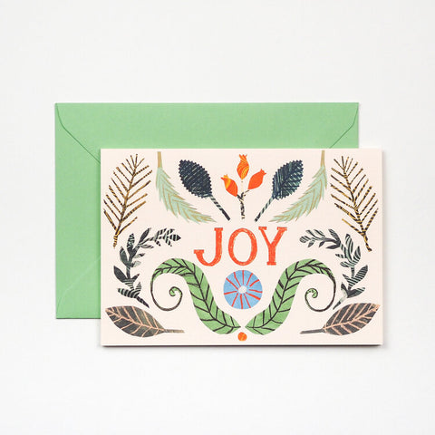 Joy Greetings Card