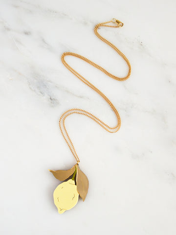 Lemon Necklace by Wolf and Moon