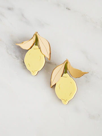Lemon Earrings by Wolf and Moon