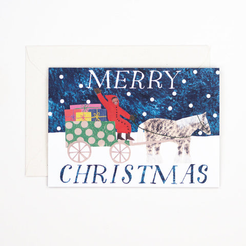 Christmas Sleigh Greetings Card