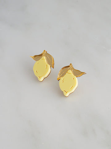 Mini Lemon Studs by Wolf and Moon
