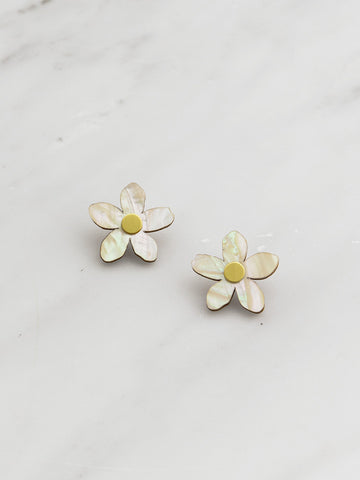 Mini Orange Blossom Studs by Wolf and Moon