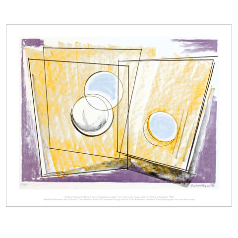 Oblique Forms by Barbara Hepworth Greetings Card
