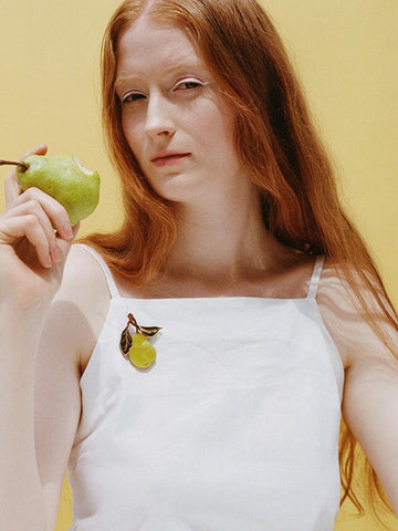 Pear Brooch by Wolf and Moon
