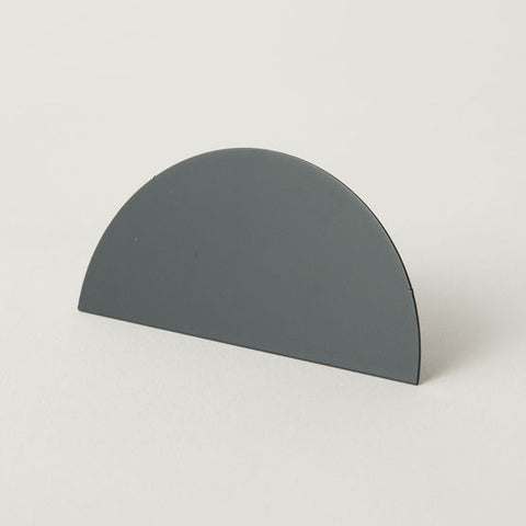 Geometric Photo Clip - Grey Semi Circle