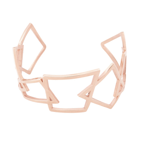 Rose Gold Geometric Cuff by Esa Evans
