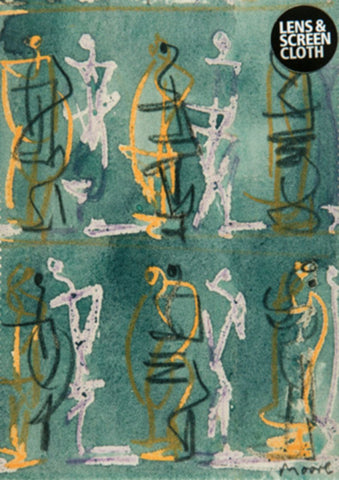 Henry Moore Seated Figures Lens Cloth