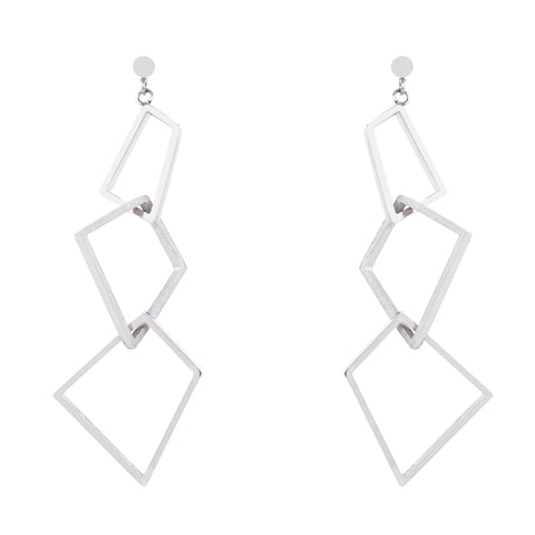 Stainless Steel Geometric Drop Earrings by Esa Evans