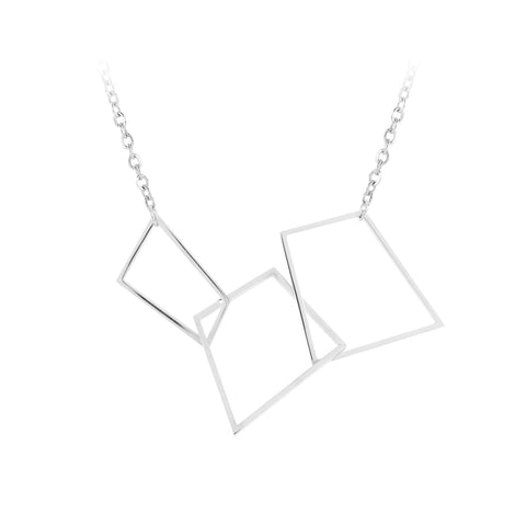 Stainless Steel Geometric Necklace by Esa Evans