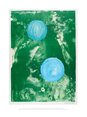 Barbara Hepworth Mini Print: Sun and Marble