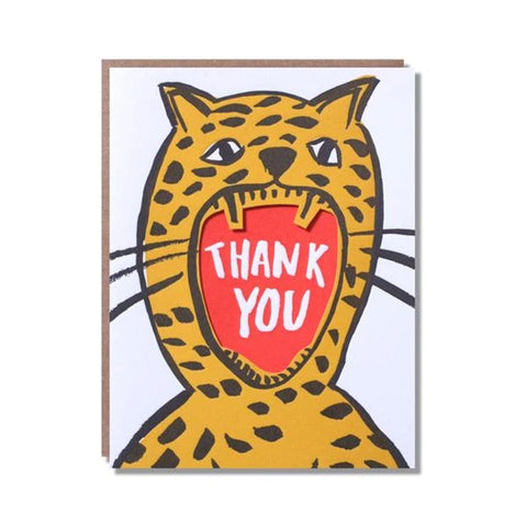 Thank You Roar Greetings Card