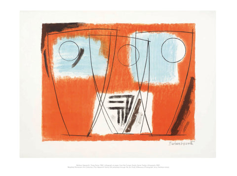 Barbara Hepworth Mini Print: Three Forms