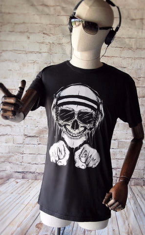Mr Skull Gym T-shirt - Black - Pain Game