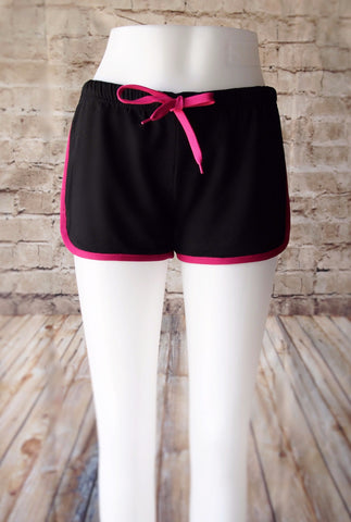 Leg Day Workout Hot Pants - Black and Pink - Pain Game