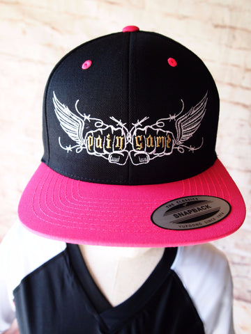 Pain Game Snapback Cap Women - Pink and Black - Pain Game