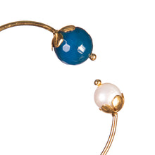 Blue & Pearl Bangle - UniqueFindz.com